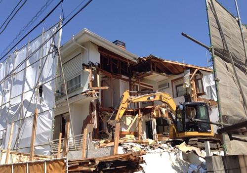 朝霞市での解体工事
